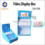 video display box ,Custom design super-market use corrugated paper video display box,video display tray