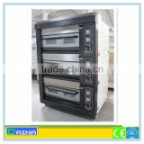 Gas bakery bread oven/pizza oven with stone/ bakery machine for baking
