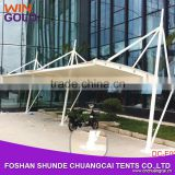New design aluminum carport membrane structure car garage for car parking