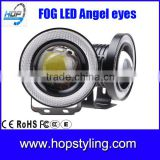 "auto spare parts 2.5"" 3"" 3.5"" 10W LED Car Fog Lamp / Motorcycle Headlamp 6500K 1200lm Bright Light Fog angel eyes for Cars"