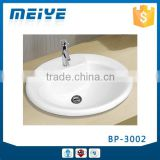 BP-3002 Modern Bathroom Design, Deluxe Quality Round Above Counter Mounting Ceramic Hand Wash Sink Basin Bowl, Vanity Basin