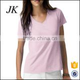 Fashion Design Plain Color Blank 100% Cotton v-neck t-shirt Made In China,t shirt printing softextile with china
