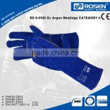 RS SAFETY Full grain durable leather split welding glove in heat resistant and Welder glo