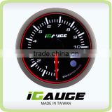52mm 3 colors LED display auto gauge with warning and peak recall function Electrical Oil Pressure Gauge