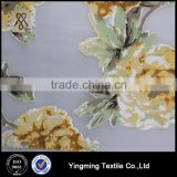 100% Polyester Beautiful Flower Printed Organza Fabric for Women's Fashion Garments/Blouses/Shirts/Skirts