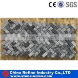 Popular gray marble stone mosaic wall tiles,nature stone indoor wall tiles                                                                                                         Supplier's Choice
