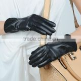 cashmere lined women in black leather gloves                                                                                                         Supplier's Choice
