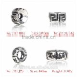 925 Sterling Silver Charms CZ Micro Pave Beads For Jewelry Components From China