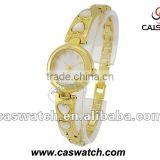 Luxury ladies gold watch with heart-shape chain