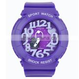 Fancy Design Colorful Sports Style Plastic Watch for kids watch sport