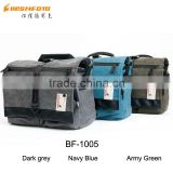 Besnfoto BN-1005 Big Canvas Travel Shoulder DSLR Camera Bag with Leather Accessories