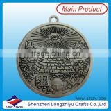 Antique nickle coin badge,souvenir commemorative coin medal,3D casting antique silver custom coin pendant for decoration