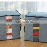 High quality bamboo charcoal foldable clothing and quilt Storage Box and Storage Case