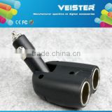 Factory price Dual USB Car Cigarette Lighter Charger with 2 Socket Car Splitter Adapter charger for iPhone6