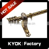KYOK Home decor good quality 35mm gold track curtain rod,Polished wrought iron curtain pipe set