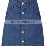 new fashion Skirt for women ladies jeans Denim flared skinny front button A -line jeans skirts for girls