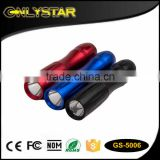 Onlystar GS-5006 aa battery colorful promotional led flash light mini popular 0.5w led aluminum keychain flashlight