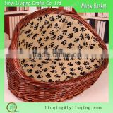 Manufacture and Wholesaling brown color half round Wicker Dog Bed