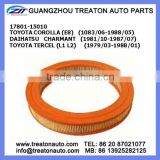 AIR FILTER 17801-15010 FOR TOYOTA COROLLA(E8)83-88 TERCEL (L1 L2)79-88 DAIHATSU CHARMANT 81-87