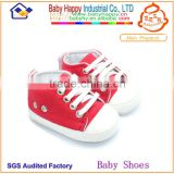 Special offer lovely red flat denim easeful baby sneaker shoes