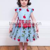 BLUE AND RED PETAL BIRTHDAY GOWN