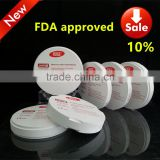 Huge CE approved Dental Implant Material Zirconia Blocks with FDA certificate CAD CAM product