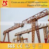 From manufacturing supplier, MH model single girder truss type yard use portable gantry crane
