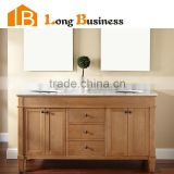 LB-LX2003 Modern Free Standing Solid Wood Bathroom Vanity With Mirrored Cabinet, corner bathroom cabinet