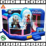 frozen bounce house with slide n basketball hoop n obstacle, big inflatable bounce houses for sale