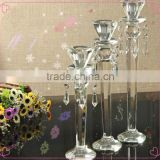 Hanging glass ball candle holder for table decorations