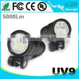 Extra Bright Video/Spot Light Most Powerful LED Diving Flashlight 10000 lumens UV9                                                                         Quality Choice