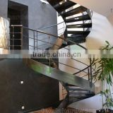 indoor metal circle spiral stair with checkered plate tread                                                                         Quality Choice