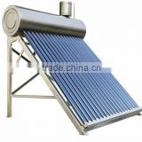58/1800mm Vacuum Tube Unpressurized Direct Plug Stainless Steel Solar Water Heaters with Assistant Tank