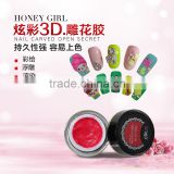 8ml New 3d nail art ,3d nail sticker , 3d nail art christmas decoration, Beauty Salon DIY Nart Art Gel Nail Polish