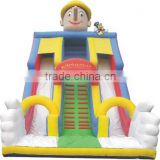 2016 New Inflatable halloween bounce house for Kids with inflatable slide and obstacle