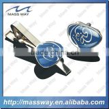 customized fashion metal enamel men accessory set cufflink & tie clip                                                                         Quality Choice
