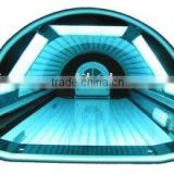 Sunbed machine and tanning machine for spray