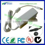mini usb car charger 5v 1000ma EU.AU. white (colour) pass UL.KC.FCC.SAA.for LED monitor,POS,CCTV camera