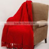 Cable Knitted Polyester Throw