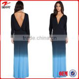 Women gowns black blue new dye evening dress gowns China online shopping dress wholesale