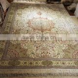 belgium design iranian handmade silk persian rug living room silk carpet factory whosale handmade silk rug