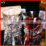 Lead Free Creative Design European Style Top Selling Drinkingware Square Iceberg Whiskey Glass