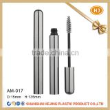 Slim shape aluminum mascara tube with custom brush