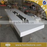 white artificial stone acrylic korean solid surface table top