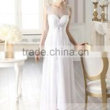 LC47 Sexy O Neck Sleeveless Wedding Dress 2015 See Through A-Line Floor Length Lace Beaded Vestido De Novia Largo