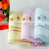 100% cotton flowers printed three color terry towels high absorbent face towels wholesale