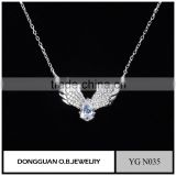 925 sterling silver lucky jewelry necklace fashion rhodium plated chain necklace from China