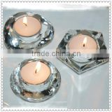 Factory Crystal Custom Shape Candle Holders For Party Supplies