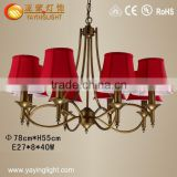 suppliers wholesale new product modern iron fabric pendant light