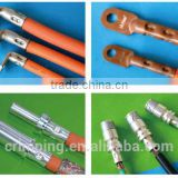 TS-03 terminal crimping machine Crimping copper ring terminals on heavy gauge battery cable